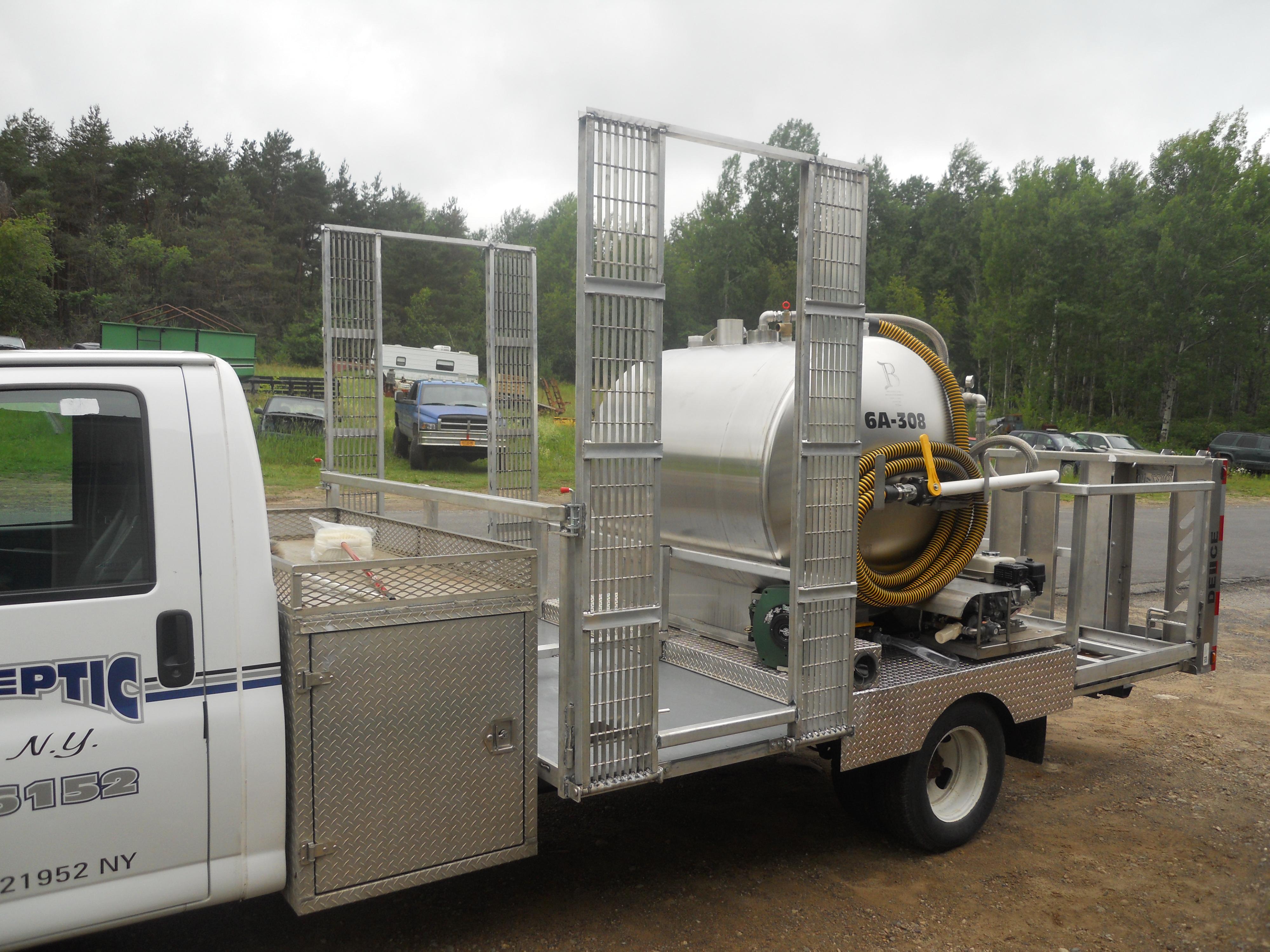 Portable Sanitation Services : Aj s septic portable toilet service truck hebel welding