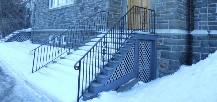 iron church hand rail canton