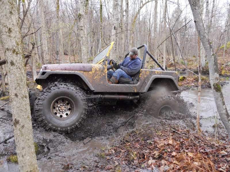 Joe Chase's yellow Jeep cj 7 has turned brown