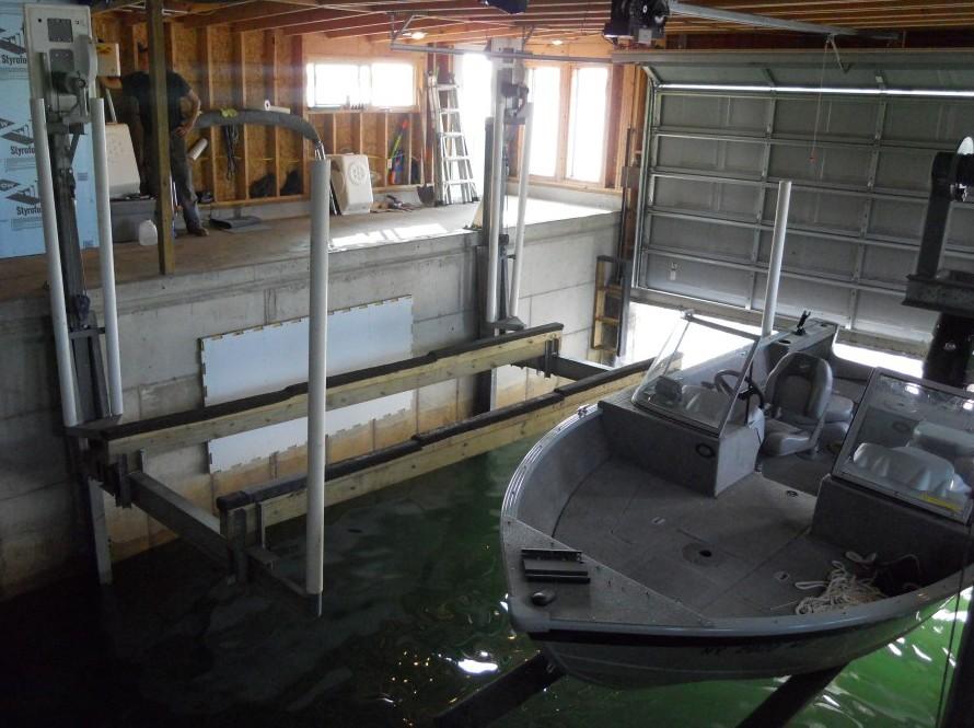 cantalever boat hoist